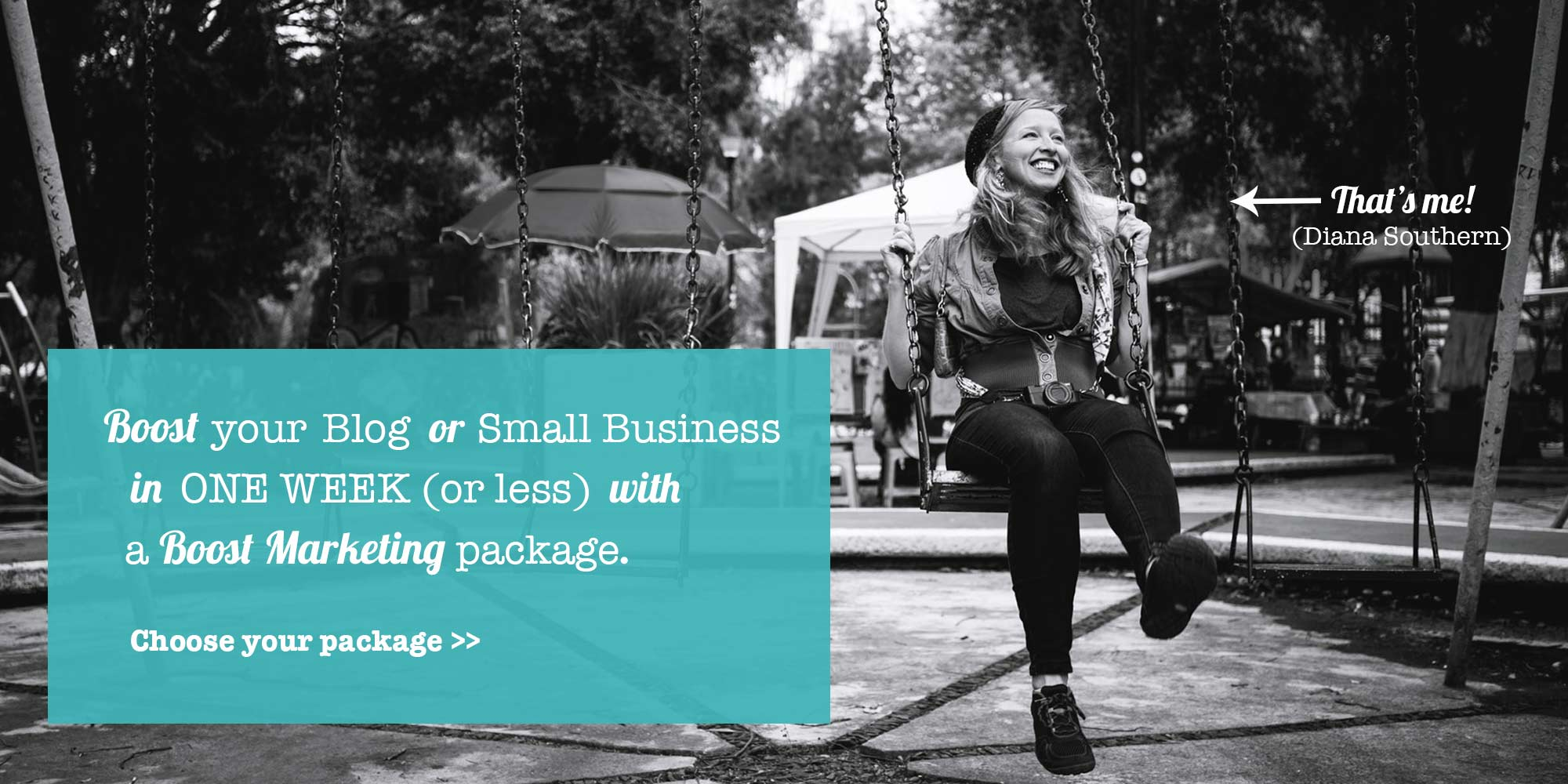 Boost your blog or business in one week (or less) with a Boost Marketing Package